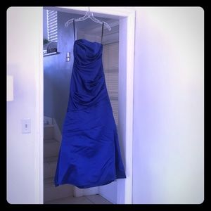 Wtoo Dresses | Sapphire Blue Bridesmaid Dress Size 0 | Poshmark